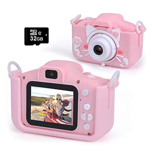 Cámara digital para niños, videocámara infantil, regalo de cumpleaños para niños de 4 a 13 años, modernas cámaras duales de 20.0...