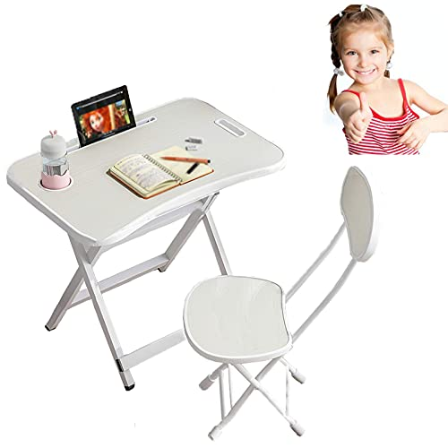 AoFeiKeDM Student desks and Chairs for Children to Write Home Folding Table and Chairs Suit Children Cartoon Dormitory Desk and Chair