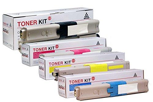 4 XL Druckerpatronen kompatibel für OKI C510dn C511dn C530dn C531dn MC561 MC561dn MC562dn