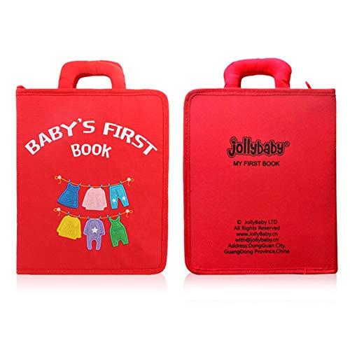 Feunet Stoffbücher Baby, Baby Erstes Buch Ungiftiges Weiches Stoffbuch, Frühaufklärung Aufklärung Kleinkindspielzeug 36 Monate Oder Mehr Babys Kleinkinder