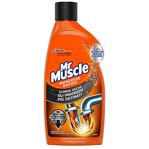Mr Muscle Monodose Rapido, Disgorgante per Tubi e Scarichi, 500 ml