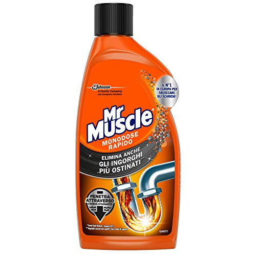 Mister Muscle Disgorgante Gel per Tubi e Scarichi - 500 ml