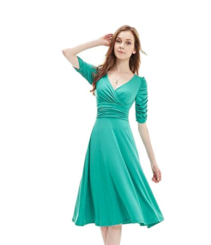 Yali Taille Candy Color Big Kleid, Grün, Größe XXXL