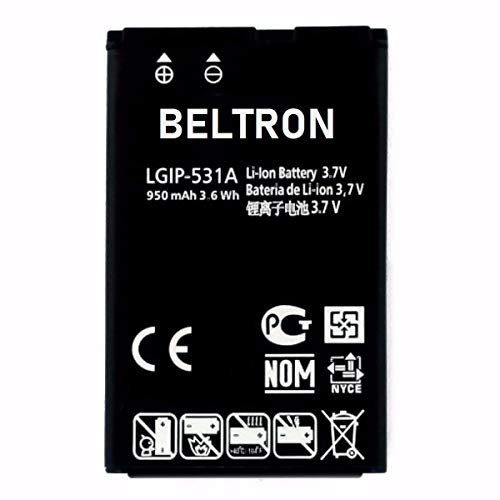 New LGIP-531A SBPL0090501 / SBPL0090503 BELTRON Replacement Battery for Envoy 2 UN160, Envoy 3 UN170, Saber UN200, 237C, 440G, 500G, T-Mobile B450, Cricket B460, AT&T B470, KU250