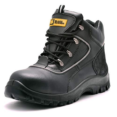 Black Hammer Mens Safety Boots Steel Toe Cap...
