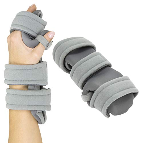 Vive Resting Hand Splint (Left) - Night Immobilizer Wrist Finger Brace - Thumb Stabilizer Wrap - for Arthritis, Tendonitis, Carpal Tunnel Pain - Functional Support for Sprains Fractures (Large)