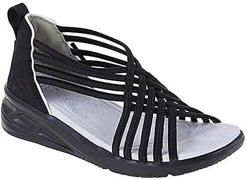 MTDBAOD Water-Ready Sporty Step-in Sandal,Womens Hiking Sandal,Womens Orthotic Plantar Fasciitis Arch Support Sandals for Flat Feet, for Women with Arch Support (39,Black)