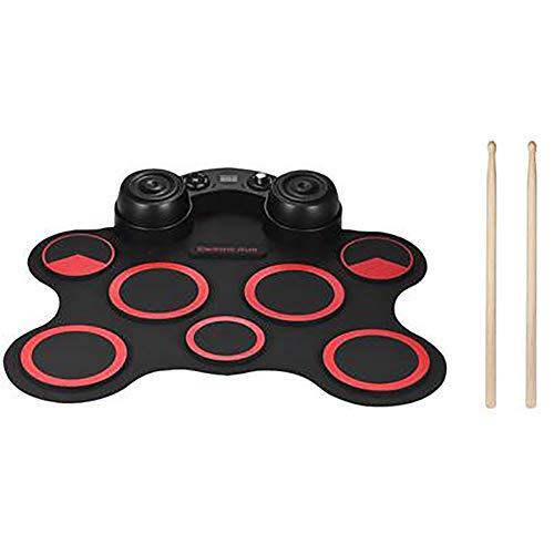 LJRdg Roll Up Drum Kit Elektronische Digital Drum Portable - Elektronische Jazz-Trommel Kit Mit Kopfhörer Und Eingebaute Lautsprecher Drum Pedals Und Sticks