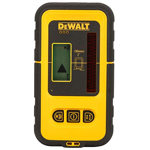 Dewalt DE0892-XJ Receptor/detector láser para DW088 y DW089, hasta 50 metros, fácil manejo, carcasa a prueba de humedad y salpicaduras, pantalla LCD, 0 W, 0 V