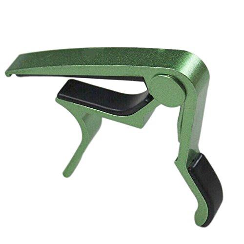 TOOGOO(R) Verde Cejilla de guitarra con una sola mano Cambio rapido