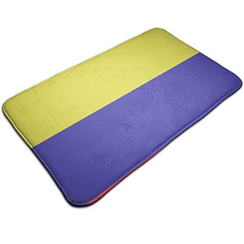 NA Kolumbien Flagge Fußmatte Home Decoration rutschfeste Fußmatten Innen- / Außen- / Haustür/Badezimmer Eingangsmatten Personalisierte Matte Bodenmatte Teppich