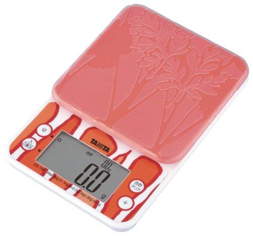タニタ クッキングスケール キッチン はかり 料理 2kg 0.5g単位 オレンジ KD-199 OR 野菜の目標量・使用量 がわかる