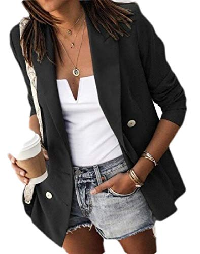 Desconocido Generic Womens Notched Lapel Double Breasted