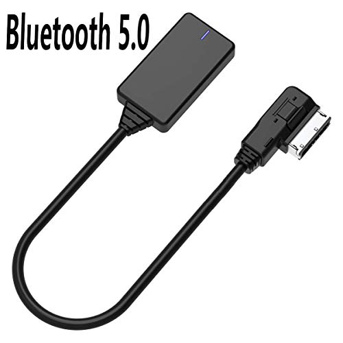Audi Aux Bluetooth Adapter VW Audi AMI MMI MDI Bluetooth 5.0 Audio Music Cable for iPhone Android Bluetooth Devices (Only MMI 3G Can Use
