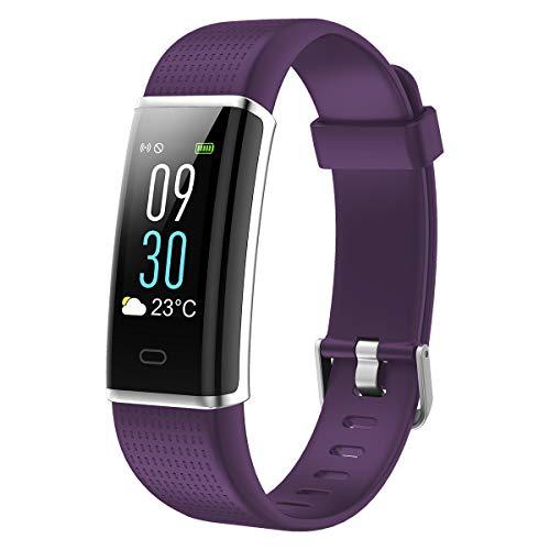 Padgene Smart Sportarmband, Activiteitsarmband Smart Watch met Kleurenscherm, Meerdere Sportmodi, Hartslagmonitor, Slaapmonitor, Paars