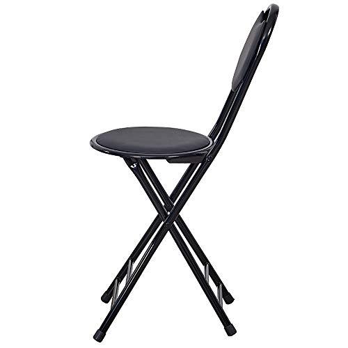YANGYUAN Kissen Kissen Klappstuhl Klappstuhl Rücken Dining Chair Home Office Hochstuhl Tragbare Hocker (5 Sätze)