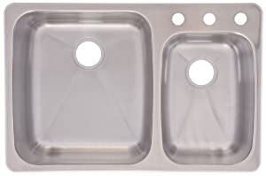 Franke C2233R/9 Stainless Steel Dual Mount Double Bowl Kitchen Sink