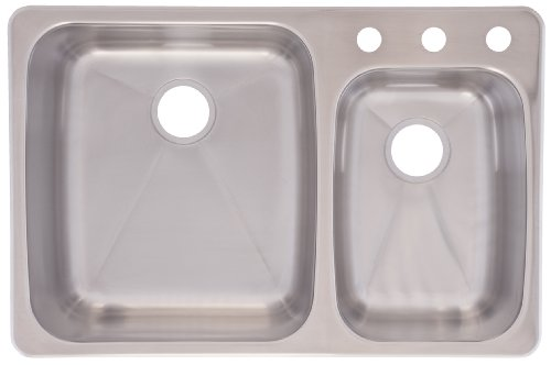 Franke C2233R/9 Stainless Steel 33 1/4x 22in. Dualmount Double Bowl Sink