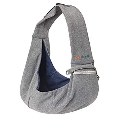 BuddyTastic Pet Sling Carrier Dog Bag | Reversible and Hands-Free | Adjustable Strap and Pocket | Comfortable Travel with Dog Cat Puppy | Up to 15 lbs 1