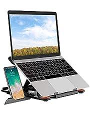 "SEA or STAR laptopstandaard verstelbare 360 ° roterende computerstandaard met telefoonstandaard compatibel met iMac / laptop / tablet (10""- 15.6"") - zwart"