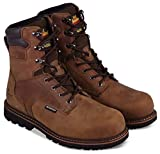 Thorogood 804-3238 Men's V-Series 8' 400g Insulated Waterproof, Composite Safety Toe Boot, Brown Crazyhorse - 9.5 W US