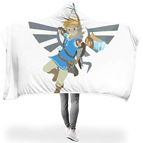 Ainiteey Zelda Men soepel verschillende patronen draagbare spreien met capuchon Voel je goed voor bank in de winter casual stijl grappige stijl