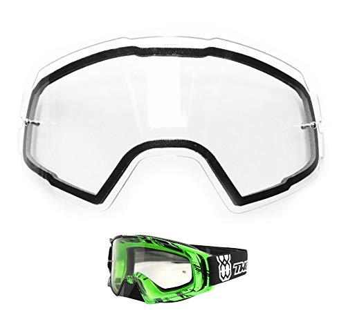 TWO-X Rocket Doppelersatzglas für Crossbrille Doppelglas klar transparent AntiFog Anti Beschlag