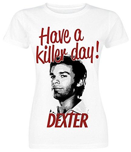 Dexter Have A Killer Day Girl-Shirt weiß S
