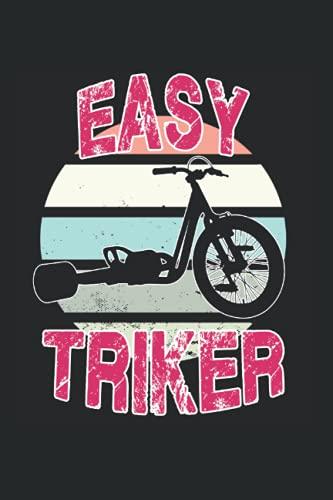 Easy Triker Bike Vintage Dreirad Motiv Radsport: 6x9 - blank - Notebook