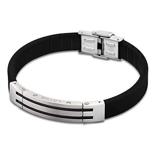 LOTUS Style Herren Armband Man-Kollektion Edelstahl silber schwarz PVD-Beschichtung, Anhänger silber schwarz JLS1521-2-2