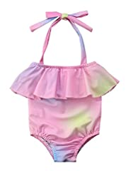 Urkutoba is the register trademark in The USPTO and Amzaon , This swimsuit designed by Urkutoba and guarantee the quality Material:Nylon, soft ,smooth and quick-drying. Soft hand feeling, High quality, Not irritative baby's skin Mermaid ruffles sleev...