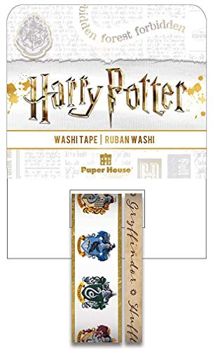 Paper House Productions Harry Potter Houses Crests Set of 2 Foil Accent Washi Tape Rolls for Scrapbooking and Crafts