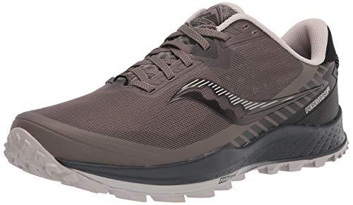 Saucony Men's Peregrine 11 Trail Running Shoe, Gravel/Black, 9.5