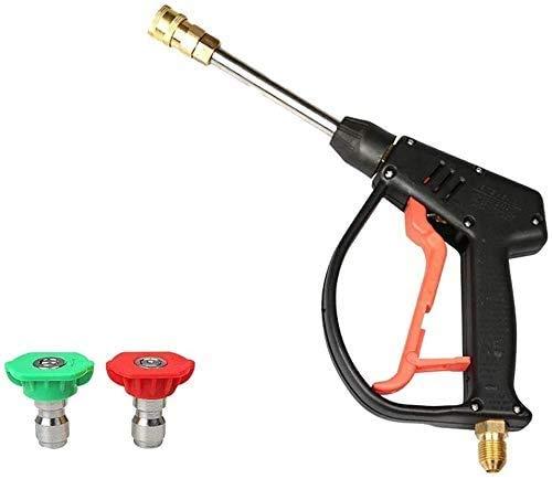 Auto-Waschmaschine Water Jet Car Clearning Zubehör-Kit Hochdruckkraftreiniger Spray Nozzle Bewässerung Gun Wasch Zubehör (Farbe: Schwarz)
