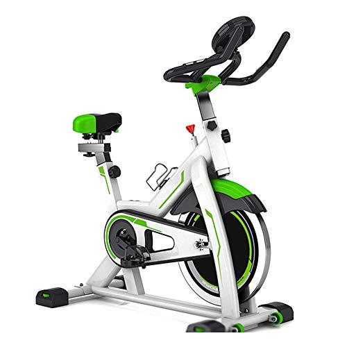 SJS Bicicleta estática, Cubierta Fitness Bicicletas, Datos en Tiempo Real, Inteligente de Monitoreo del Ritmo cardíaco, Cup Holder, para Ejercicios en casa y Cardio