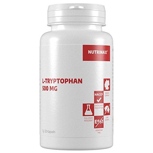 L-Tryptophan 500mg - 240 Kapseln - hochdosiert - Nahrungsergänzung - Made in Germany (240 Kapseln)