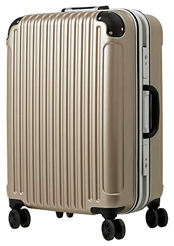 [luckypanda(ラッキーパンダ)] TY051 スーツケース mサイズ キャリーバッグ 中型 フレーム 1年修理保証対応 TSAロック 鍵付 ハード キャリーバック キャリーケース Mサイズ シャンパンゴールド