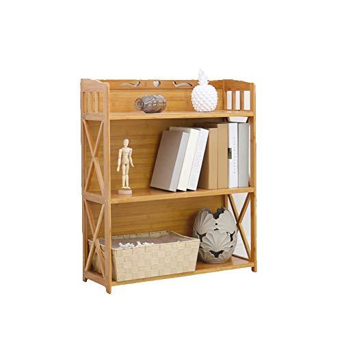 KELE eenvoudige massief hout meerlaagse boekenkasten, multifunctionele staande opslag rack open kast planken organisator voor thuiskantoor