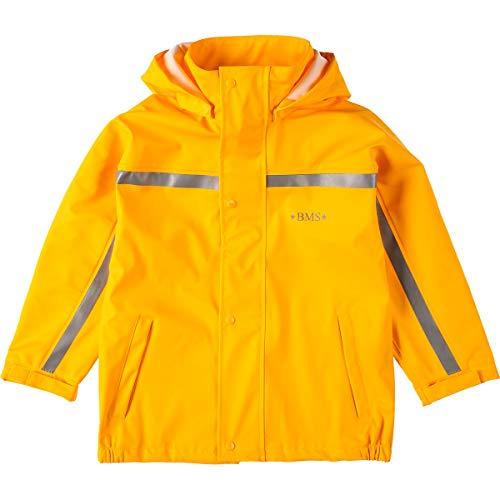 BMS Buddeljacke, Regenjacke für Kinder mit Abnehmbarer Kapuze in gelb Größe 92