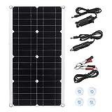 Panel Solar, Controlador de Cargador Solar Impermeable Flexible USB for RV, Barco del Coche 30W 5.5V Monocristalino Kit de Panel Solar
