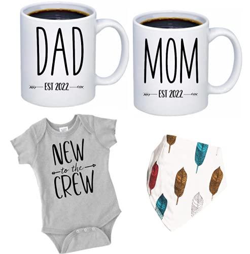 Pregnancy Gift Est 2022 - New Mommy and Daddy Est 2022 11 oz Mug Heart...