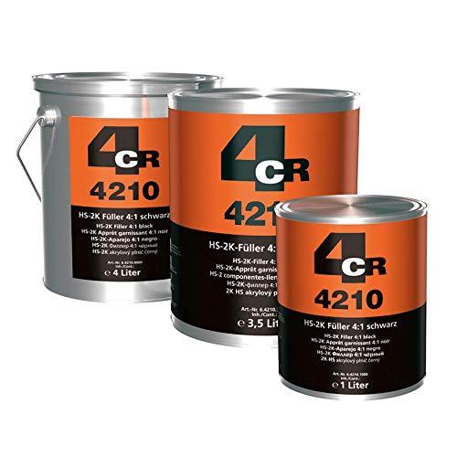 4CR 6.4210.1000 2K HS-Füller 4:1, 1 L, Schwarz