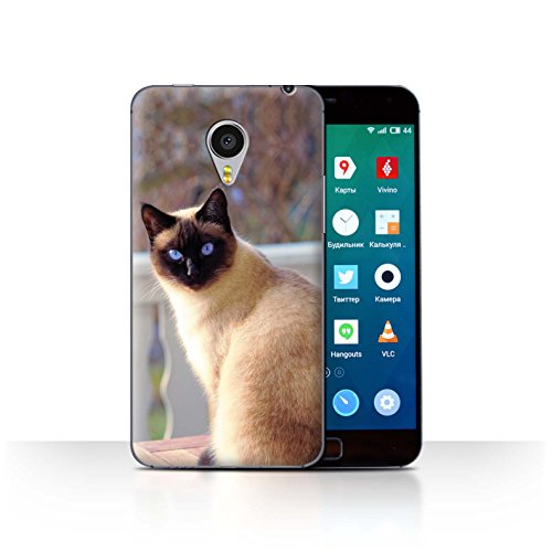 Stuff4® Hülle/Case für Meizu MX4 Pro/Siamesische Katze Muster Katze/Katzenrassen Kollektion