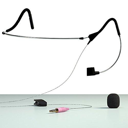 SpeechWare FMKDEC FlexyMike Dual Ear Cardiod Lightweight Unidirectional Headband Microphone with Extendable Headband, Flexible Gooseneck and 3.5mm Connection (2nd Gen.)