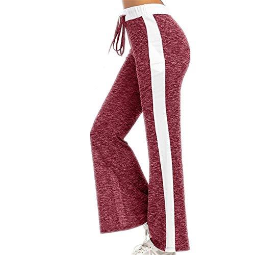 Hhckhxww Pantalones Casuales Pantalones Sueltos con Estampado De Encaje Pantalones De Mujer
