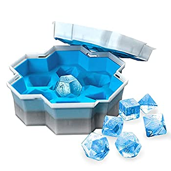 Dice Shape Ice Cube Tray  7 Cubes Polyhedral Dice Silicone Ice Cube Mold For Dungeons And Dragons TRPG Board Game Easy-Release And Flexible Ice Cube Molds For Baking Cocktail Whiske Color 1 Piece