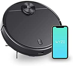 Wyze Robot Vacuum with LIDAR Mapping Technology, 2100Pa Strong Suction, Ideal for Pet Hair, Hard Floors and Carpets, Virtual Wall, Wi-Fi Connected, Self-Charging