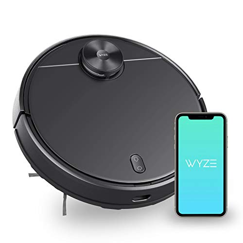 WYZE Robot Vacuum with LIDAR Mapping Technology, 2100Pa Suction, No-go Zone, Wi-Fi Connected, Self-Charging, Ideal for Pet Hair, Hard Floors and Carpets