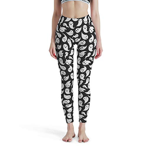 Shaoziyun Yoga Leggings Dames Ghost Fitness hoge taille enkellang ondoorzichtige tights broek yoga