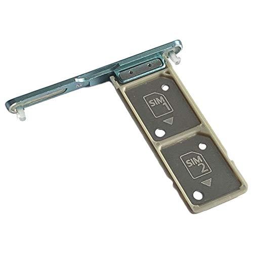 Sony Xperia XA2 Plus Dual SIM (H4413, H4493) Simkartenhalter und Micro-SD Card Fach, Original Ersatzteil, Grün